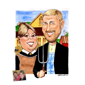 Gift Caricatures - Rick Wright and Co.