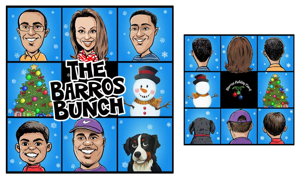 Holiday cards and Commissions for 2014 | Caricatures By Rick